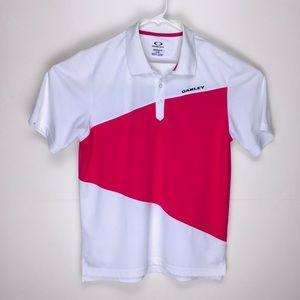 Oakley regular fit mens short sleeve polo shirt L
